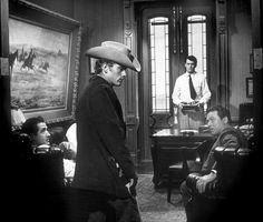 "James Dean and Rock Hudson in ""Giant."" 1955 Warner"