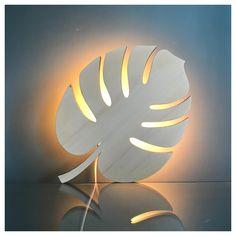 Applique feuille en bois naturel Led, Applique, Table Lamp, Celestial, Outdoor, Home Decor, Natural Wood, Outdoors, Lamp Table