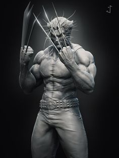 Wolverine Hi guys!) This model is based on the concept by Michael Turner. I did this character just because Wolverine is one of my favorite characters from Marvel. Arte Dc Comics, Marvel Comics Art, Marvel Heroes, Ms Marvel, Captain Marvel, Wolverine Art, Logan Wolverine, Logan Xmen, Comic Books Art