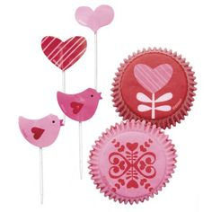 Valentinstag Muffin Förmchen und Picks Herzchen Muffins, Party World, Form, Cupcakes, San, Google Search, Biscuits, Valentines Date Ideas, Cupcake