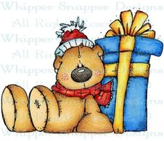 Bear & Present - Bears - Animals - Rubber Stamps - Shop