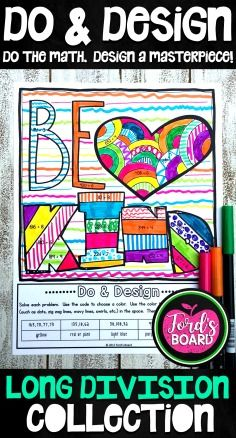 These Division Coloring Pages are created to help students practice mastery of facts and mindfulness at the same time! Each of the 5 No Prep Do & Design activities features positive words and phrases that encourage happiness and a growth mindset.