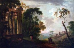 "George Barret (British, 1728-1784), ""Landscape with Ruins,"" about 1765; Indianapolis Museum of Art, James E. Roberts Fund, 77.54"