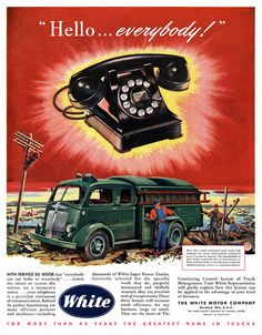 Big Black Telephone. Can also be used as a murder weapon. Advertising. Vintage