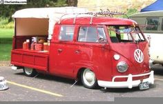 Nice Double Cab Vw Bus, Kombi Pick Up, Flower Truck, Aston Martin, Buses, Cars And Motorcycles, Porsche, Camper, Classic Cars