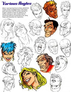 Learn How Draw - Head Tilts and Turns