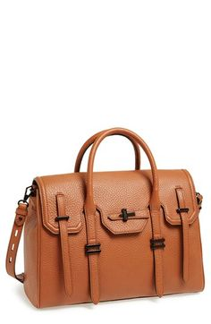 $375, Tobacco Leather Satchel Bag: Rebecca Minkoff Jules Leather Satchel. Sold by Nordstrom. Click for more info: https://lookastic.com/women/shop_items/83404/redirect