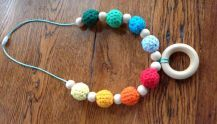 Easy Crochet Teething Necklace