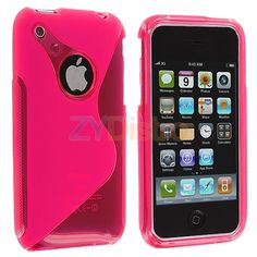 Hot Pink TPU S-Line Rubber Skin Case Cover for Apple iPhone 3G S 3GS