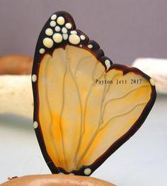 Golden Glow. Handmade Lampwork Glass Focal WING Bead by PaytonJett on Etsy https://www.etsy.com/listing/553807708/golden-glow-handmade-lampwork-glass