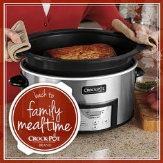 Get back to family mealtime with Crock-Pot® Slow Cooker! You could win a Crock-Pot® Slow Cooker with Stovetop-Safe Cooking Pot by entering our sweepstakes! Visit https://www.facebook.com/CrockPot/app_600948003314659?ref=ts to pin this for your chance to win! Sweepstakes ends 9/3/15. #CrockPot #SlowCooker #Contest #PinToWin [Promotional Pin]