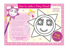 This make and do fairy wand craft activity is great for your child to use when dressing up and for imaginary play!