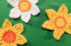 Blumen häkeln: Osterglocken häkeln