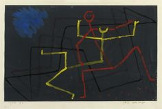 Paul Klee  Gelb unterliegt, 1935  gouache on paper laid down on the artist's mount  image: 8¼ x 12 7/8 in. (20.9 x 32.8 cm.) mount: 13¾ x 19. 5/8 in. (35 x 49.9 cm.)