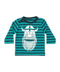 Danefæ adorable striped baby t-shirt with white Viking. danefae.en.emilea.be