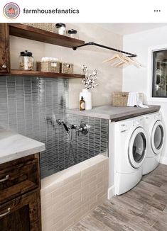 38 Functional And Stylish Laundry Room Design Ideas To Inspire. 33 Functional And Stylish Laundry Room Design Ideas To Inspire. Have a look at this incredible collection of laundry room design ideas that are functional, stylish and full of inspiration. Home Design, Home Interior Design, Dream House Design, Gym Interior, Design Room, Smart Design, Kitchen Interior, Modern Interior, Exterior Design