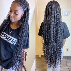 Top 60 All the Rage Looks with Long Box Braids - Hairstyles Trends Box Braids Hairstyles, Frontal Hairstyles, Braided Hairstyles For Black Women, African Hairstyles, Hairstyles Haircuts, Protective Hairstyles, Protective Styles, Lemonade Braids Hairstyles, Hairstyles Videos