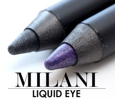 $6.99 Milani Liquid Eye Liquid-Like Liner in New Perfect Purple and Graphite for Eye Looks Both Bold and Gentle