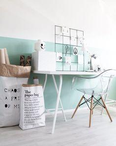 Kleurtrend mintgroen muur  - Woontrends Roobol