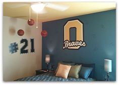 M/I Homes bedroom decorated for Olentangy Braves #schoolspirit