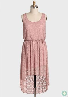 Just Like Heaven Curvy Plus Dress In Blush   Modern Vintage Curvy Plus - Pretty Plus size hi-low dress. I love the floral lace, they also have this same dress in a dark blue, but you know me by now, I like my pastels. sold out.