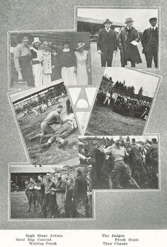 Images from 1918 Underclass Mix.  From the 1919 Oregana (University of Oregon yearbook).  www.CampusAttic.com