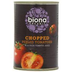 Biona Organic Chopped Tomatoes 400 g (Pack of - good source of antioxidant n Tomato Juice, Tomatoes, Vitamins, Sweets, Organic, Snacks, Fruit, Vegetables, Drinks