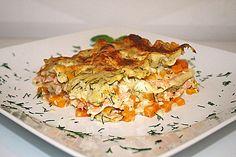 Kürbis - Lachs - Lasagne 1