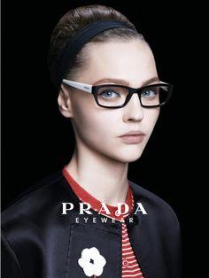 "1d6d433bd4a le-monde-sans-couleur  ""Sasha Pivovarova for Prada S S ph. by Steven Meisel  """