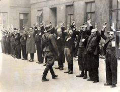 Warsaw, Poland, Jewish men being arrested.