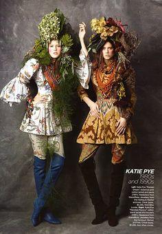 Floral art by amazing Austalian florist - Saskia Havekes Great fabrics too btw.