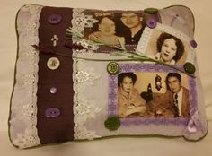 Custom Handmade Photo Pillow: Memories are by DesertMoonQuiltCo