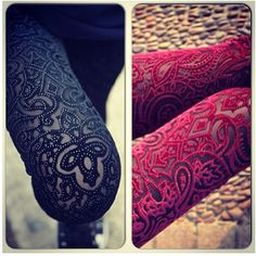 These are super cute tights for fall. They have really pretty designs on them also.