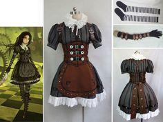 Alice Madness Returns Alice Stream cosplay costume  Custom Size Halloween $91.80