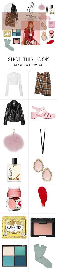 """Modern romance"" by livefastdng ❤ liked on Polyvore featuring Off-White, Jacquemus, JuJu, Harrods, CB2, NARS Cosmetics, Kate Spade, Clarins, Rodin and Kusmi Tea"