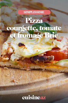 La pizza courgette, tomate et Brie est une recette idéale pour les beaux jours ! #recette#cuisine#pizza#courgette #tomate #brie #fromage Calzone, Tacos, Mexican, Ethnic Recipes, Food, Gourmet, Pizza, Tomato And Cheese, French Food