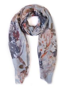 I love wearing floral prints in autumn/winter and this duck egg blue scarf would be ideal.  Marks and Spencer.