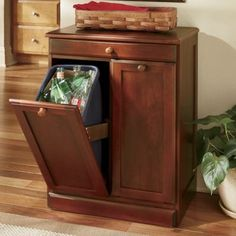 How to Build a Custom Tilt-Out Trash Cabinet | Tilt, Kitchens and House