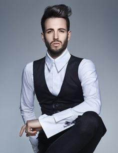 Looking for Men's Hair Inspiration? Dress up your longer lengths with a sleek quiff, keeping the sides and back short for a polished and groomed final look. From Francesco Group's 2016 Collection. Men's Hair, New Hair, Hair Inspiration, Dress Up, Vest, Collections, Hairstyles, Group, Creative
