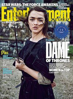 Couvertures game of thrones saison 6 avec des femmes par le magazine Entertainment Weekly