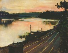 Akseli Gallen-Kallela (1865 – 1931) View from Eläintarha at Sunset
