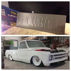 C10 chevy truck triple white. project snowball slammed
