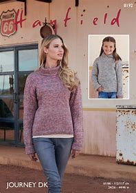 Hayfield 8192 Knitted Sweater in Hayfield Journey DK weight yarn for 4 years to XL adult. Hooded Sweater, Jumper, Journey, Dk Weight Yarn, Knitting Supplies, Knitting Patterns, Graphic Sweatshirt, Pullover, Sweatshirts