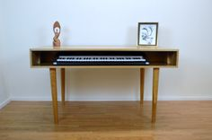 Solid Cherry Piano / Keyboard Table by STORnewyork on Etsy