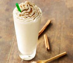 Decadent Desserts—150 Calories and Under! Starbucks Cinnamon Dolce Crème Frappuccino,  140 calories #SelfMagazine #Starbucks