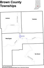 Brown County Indiana Township Map Where I Come From