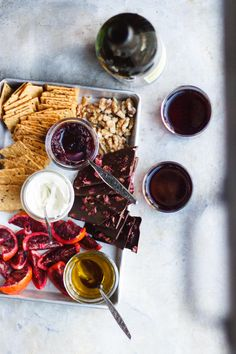 A Snack Board for Two with Olive Oil Whipped Ricotta Bites   A snack board for two is how you share sweet and savory bites with someone you love. It's perfect for Valentine's Day, anniversaries or a date night in.