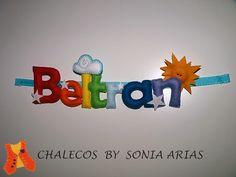 Felt name for Beltran's room