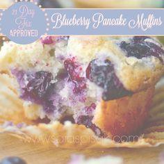 Sara Spisak : Blueberry Pancake Muffins -- 21 Day Fix Approved!