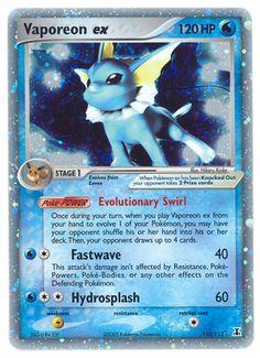 ex pokemon cards | ... Booster Packs - Nintendo - - Pokemon EX Delta Species- Vaporeon EX